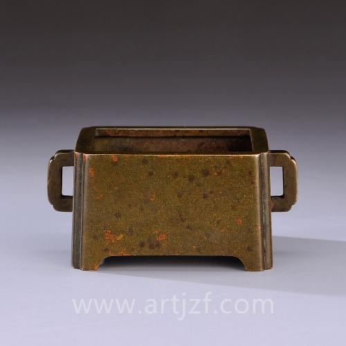 仿琴书侣款纯铜马槽炉