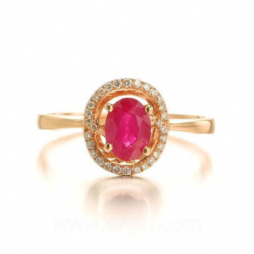 ZB1611003 红宝石钻戒