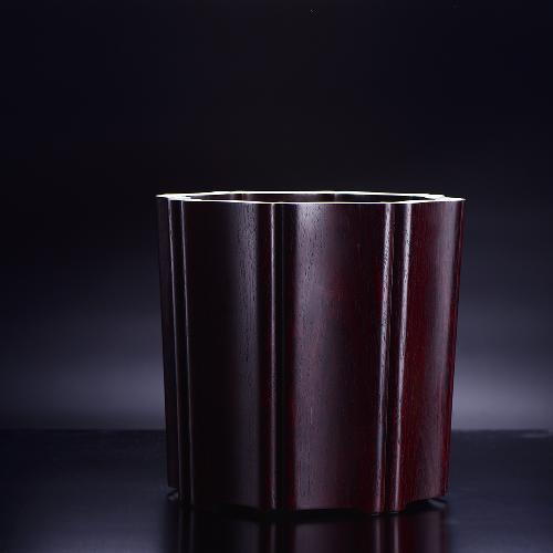 WF16120026小叶紫檀木八角笔筒